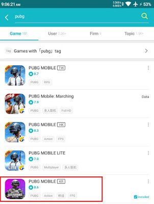 How to Install PUBG Mobile KR/JP taptap