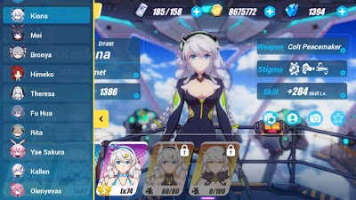 List of All Honkai impact 3 character