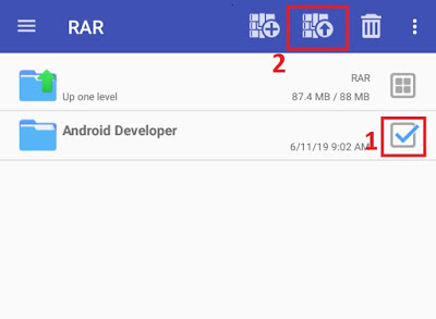 Zip and Unzip File on Android