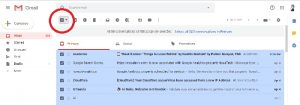 how to delete email in gmail at once
