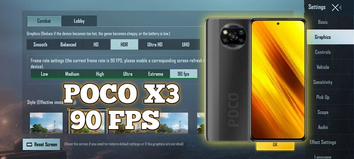How to Enable 90 FPS in PUBGM on POCO X3 NFC