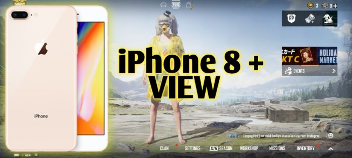 Config iPhone 8+ View for PUBG Mobile