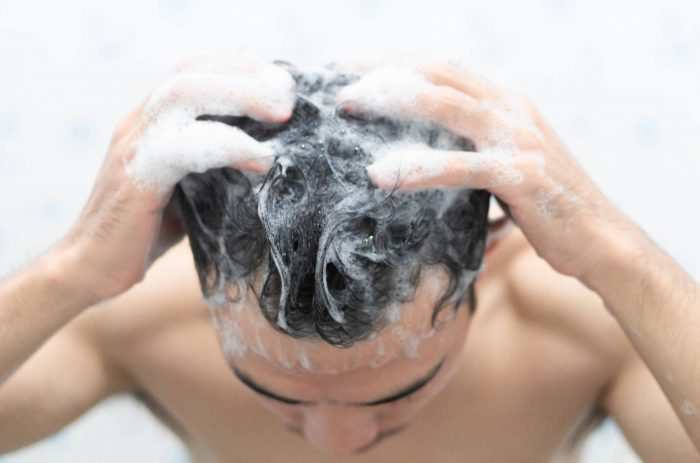 Dont soak your scalp with the water stream directly