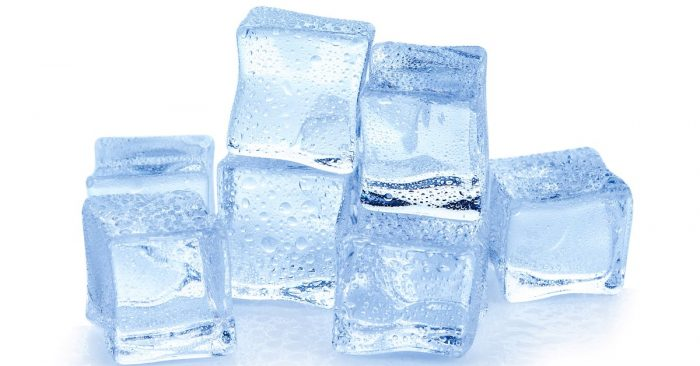 Put on ice above your eyebrows to suppress swelling